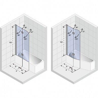 Vonios sienelė Riho Novik, 75, 100 cm 3
