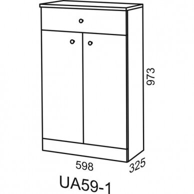 Vonios spintelė Riva UA 59 2