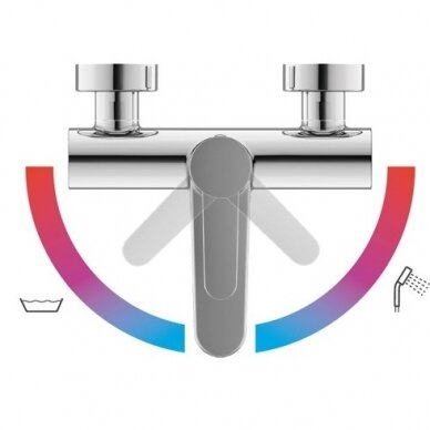Vonios vandens maišytuvas Ravak Puri 150 mm 2