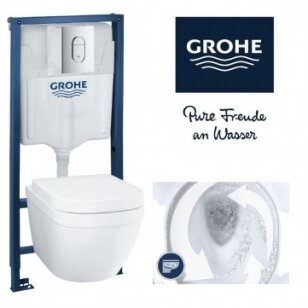 WC komplektas Grohe EuroCeramic Rimless