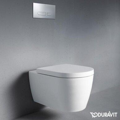 Wc komplektas Duravit ME by Starck unitazas ir DuraSystem rėmas su chromuotu mygtuku 2