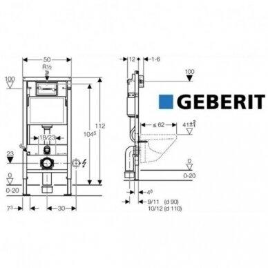 WC komplektas Geberit rėmas ir Laufen Pro Rimless unitazas su Soft close dangčiu 5