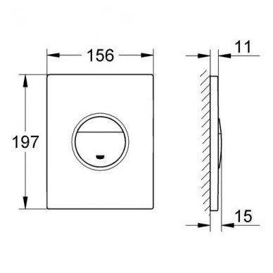 WC komplektas Grohe Bau Rimless 11