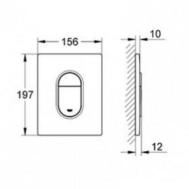 WC komplektas Grohe EuroCeramic Rimless 10