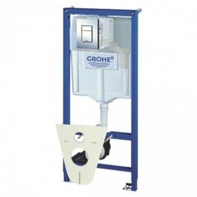 WC komplektas Ravak Endo unitazas ir Grohe WC rėmas Rapid SL 5in1 6