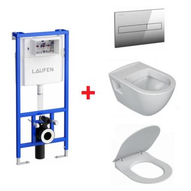WC komplektas Ravak Endo unitazas ir Laufen rėmas