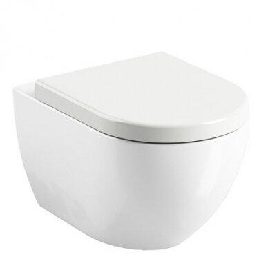 WC komplektas Ravak unitazas ir Tece rėmas su chromuotu mygtuku 2