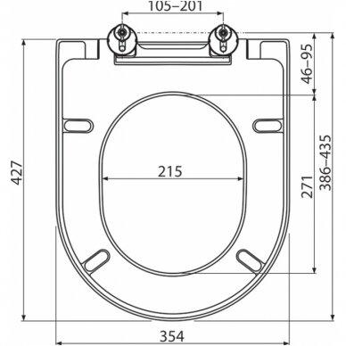 WC komplektas Ravak unitazas ir Tece rėmas su chromuotu mygtuku 5