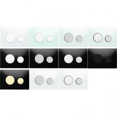 WC nuleidimo klavišas TECEloop, įvairių spalvų 2