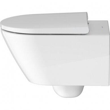 WC pakabinamas Duravit D-Neo rimless su soft close dangčiu 3