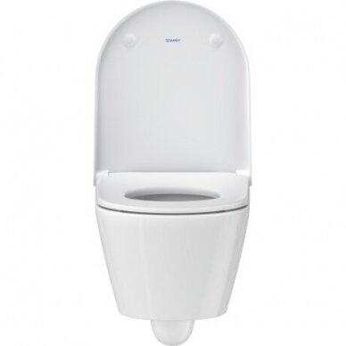 WC pakabinamas Duravit D-Neo rimless su soft close dangčiu 4