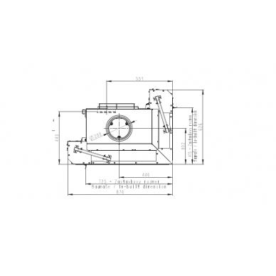 Židinio ugniakuras kampinis HR3LG01 65.. vientisu dešinės pusės pakel.stiklu, malkinis, 69 m2, 11 kW 3